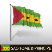 Flag of Sao Tome and Principe — Stock Vector