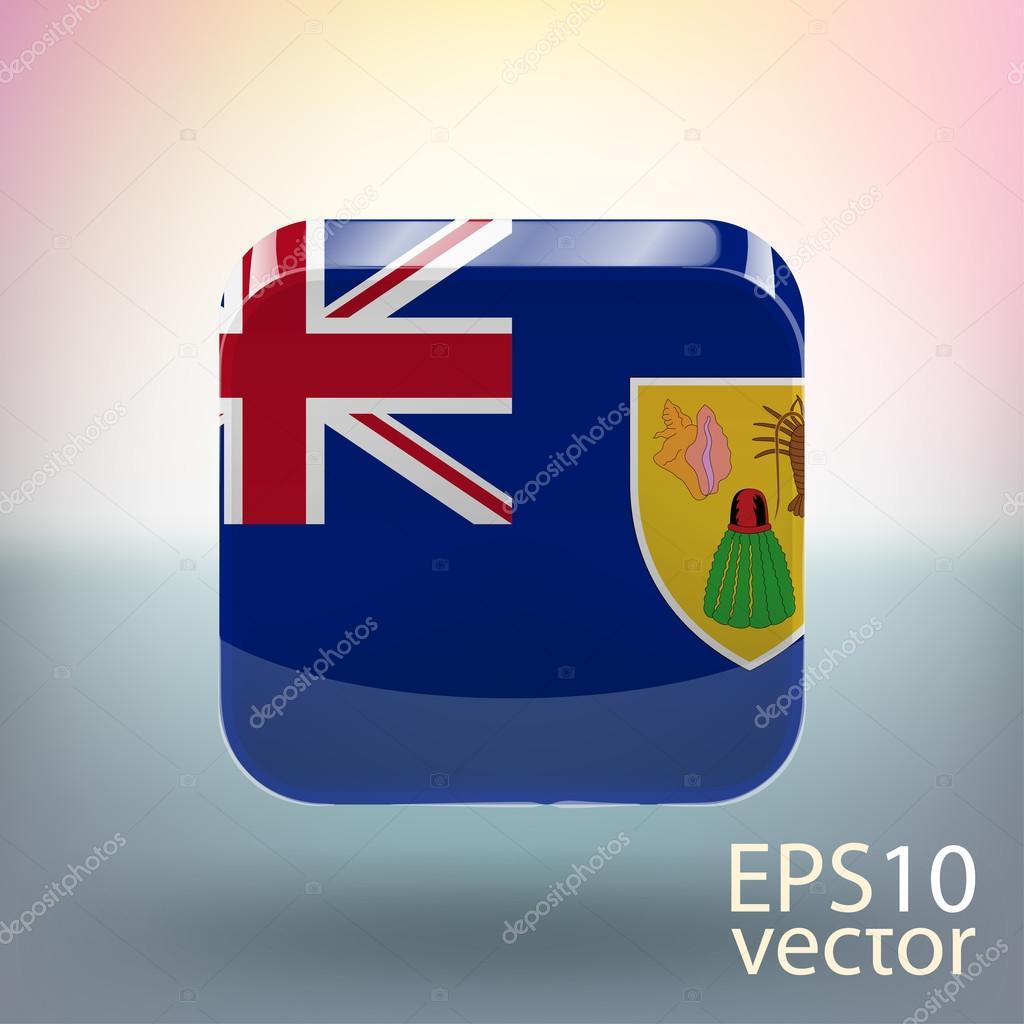 国旗的特克斯和凯科斯群岛