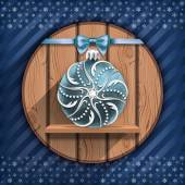 Blue Christmas ball — Stockvektor