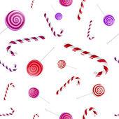 Рождественский образец с леденцом — Cтоковый вектор