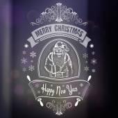 Christmas card with Santa — Stock Vector