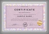 Vintage certificate template — Stock Vector