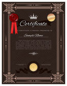 Vintage Zertifikatvorlage — Stockvektor