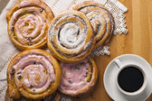 Homemade pastries and coffee. — Stockfoto