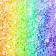 Rainbow spa bath salt crystals background texture — Stock Photo #53750895