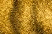 Golden leather texture — Stock Photo