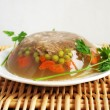 Постер, плакат: Polish cuisine: pork aspic