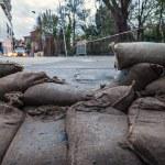 Sandbags barricade — Stock Photo #58653629