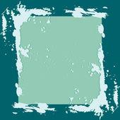 Frame with blue splash — Stock Vector