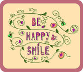 Be happy and smile2 — Wektor stockowy