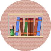 Libreria con books2 — Vettoriale Stock