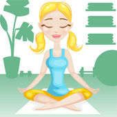 Yoga woman — Stock Vector
