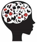 Woman's brain — Stock Vector
