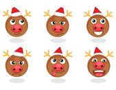 Rudolph smilies — Stock Vector