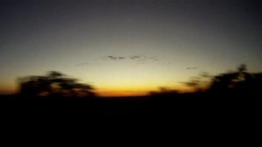 Traveling by car and enjoying the sunset — Vídeo de Stock