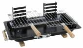 Black barbecue grill on white with clipping path included — Stock Photo
