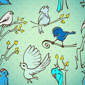 Seamless pattern birds — Stock Vector