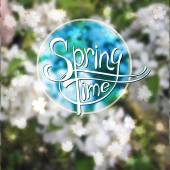 Springtime blurred vector background — Stock Vector