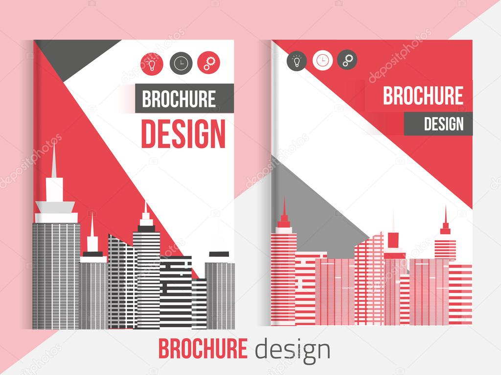 red set of vector brochure cover templates blured city red set of vector brochure cover templates blured city landscape and lines professional business presentation a4 size annual report template
