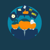 矢量图标快乐的客户 — 图库矢量图片