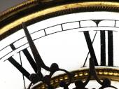Old clock with roman numerals. — Stock Photo