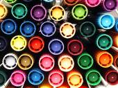 Colorful school markers closely. — Stock Photo