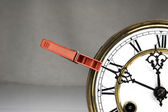 Clothespin stop the clock. — Стоковое фото