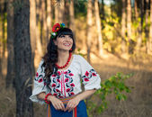 Portrait ukrainian woman — Stock Photo