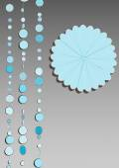 Blue circles template — Stock Vector
