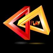 Play logo — Stock Vector