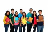 Large group of Asian students — Foto Stock