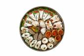 Indian sweets in plate — Stockfoto