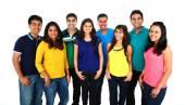 Grande gruppo di amici asiatici — Foto Stock