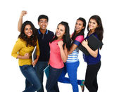 Indian group of people looking at camera — Stock Photo