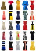 Collection of stylish women dresses — Stock Photo