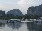 Thailand, AO Nang lagoon for boat docking — Stock Photo