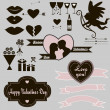 Постер, плакат: Happy Valentines Day Set