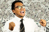 Man winning the lottery — Stock Photo