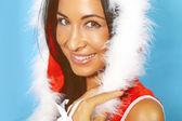 The daughter of santa claus — Stock Photo