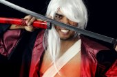 Angry samurai — Stock Photo