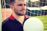Joven futbolista — Foto de Stock