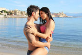 Beautiful couple on the beach — Stock Photo