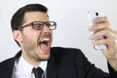 Man doing a selfie — Stock Photo