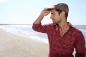Man wearing a beret — Stock Photo