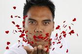 Young man sending love — Stock Photo