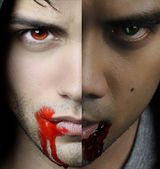 A vampire story - two portraits of  a vampires — Stock Photo