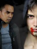 A vampire story - two handsome vampires — Stock Photo