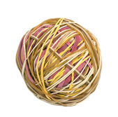 Ball of rubber bands — Stock Photo
