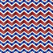 Chevron vzor v červená, bílá, modrá — Stock vektor
