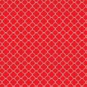 Red white quatrefoil pattern — Stock Vector